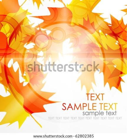 Autumn leaves. Vector seasonal background