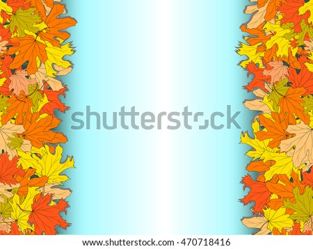 autumn light blue background