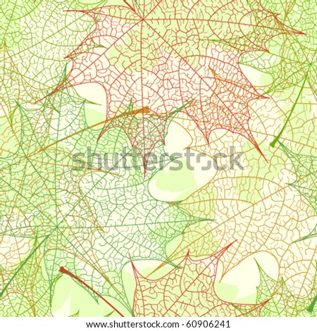 Autumn maple leaves seamless pattern