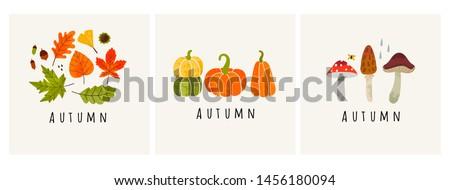 autumn mood set of three