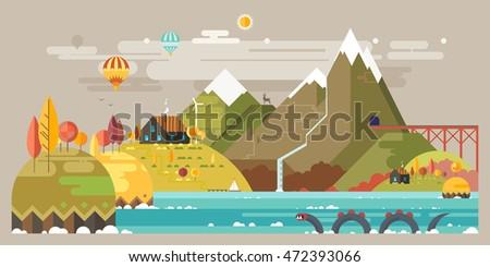 autumn mountain landscape the
