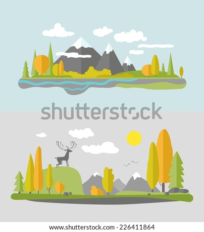 autumn nature design vector