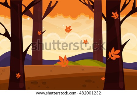 autumn nature landscape with