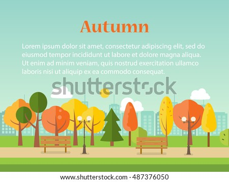 autumn or fall park background