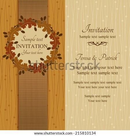 autumn or summer invitation