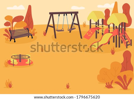 autumn playpark flat color