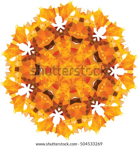 autumn polygonal mosaic