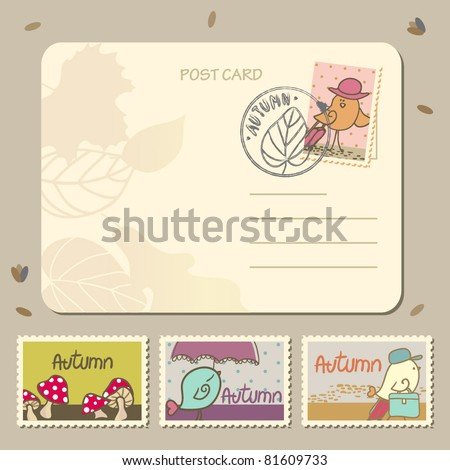 autumn postage set