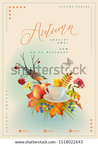 autumn poster template with a