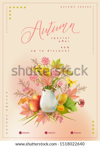 autumn poster template with