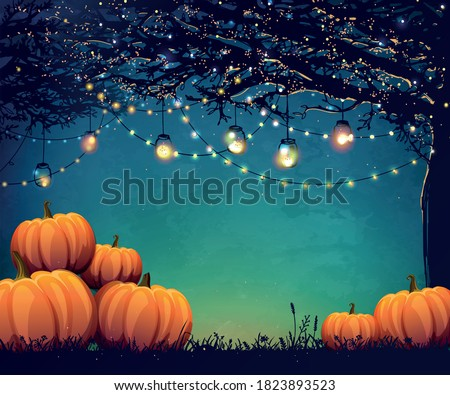 autumn poster with holiday