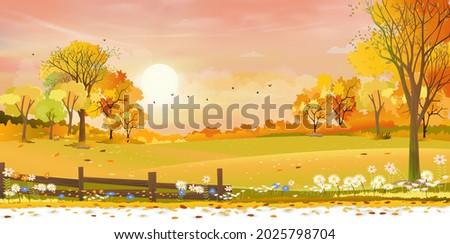 autumn rural landscape farm