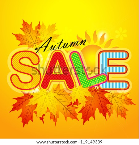 "Autumn sale against beautiful maple leaves / Autumn of ""Sale"" word for sales promotion."
