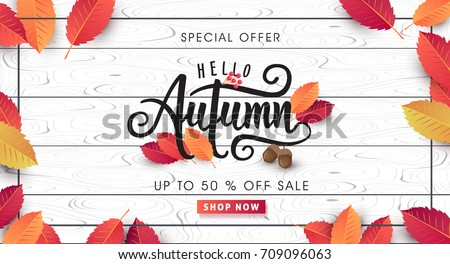 autumn sale background layout