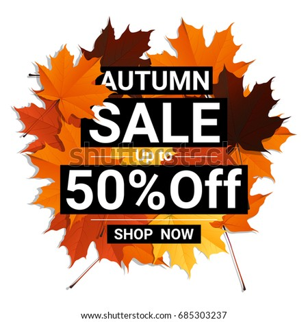 autumn sale banner with