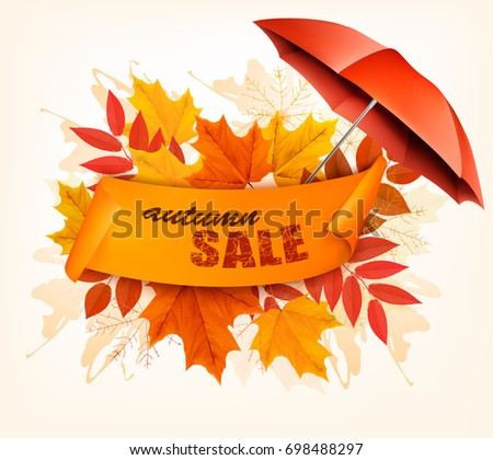 autumn sale card with colorful