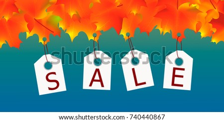 autumn sale  colorful yellow