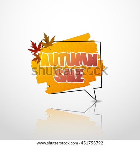 autumn sale label  banner