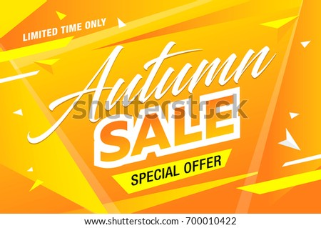 autumn sale template banner, vector illustration #700010422