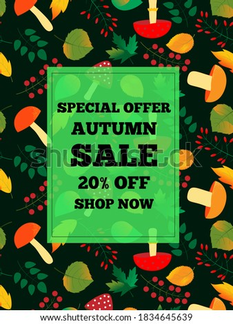 autumn sale text banners for