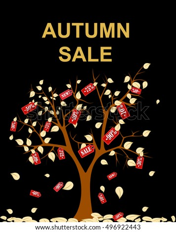 autumn sale vector concept