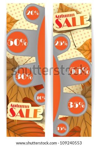 Autumn sale. Vector illustration. Eps 10.