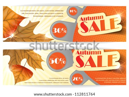 Autumn sale. Vector illustration. Eps 10.