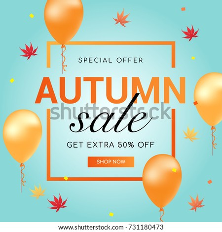 autumn sale vector illustration
