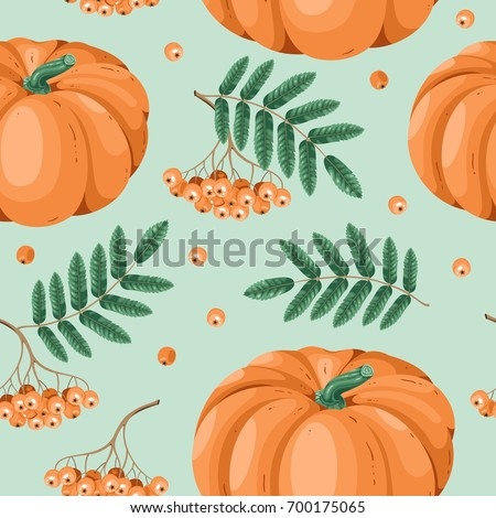 Autumn seamless pattern in vector