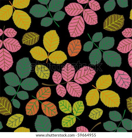 autumn seamless pattern with leaf