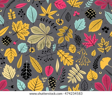 autumn seamless pattern with