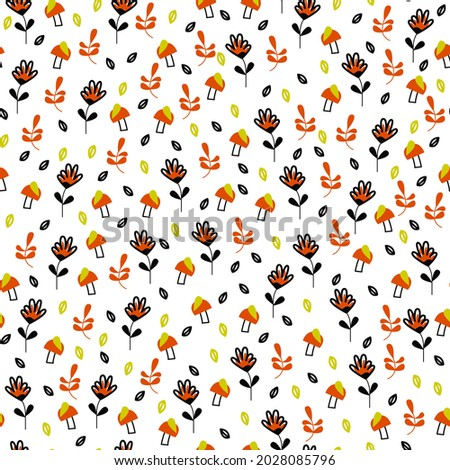 autumn seamless pattern with