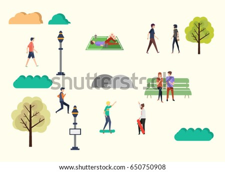 autumn season background. vector,illustration,cartoon, character style. all isolated You can fix it.