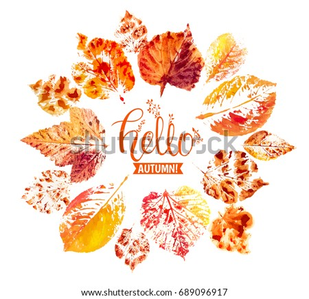 autumn season banner greeting