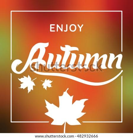 autumn season greeting vector