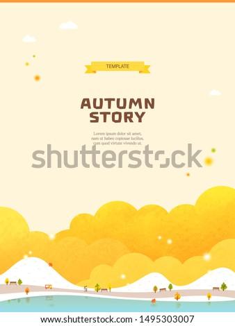 autumn season landscape scene