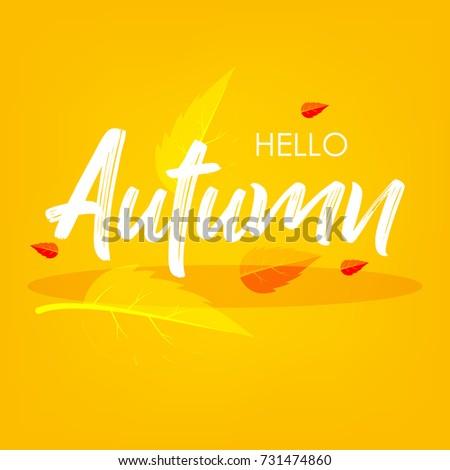 Autumn Season, Vector Illustration design background.