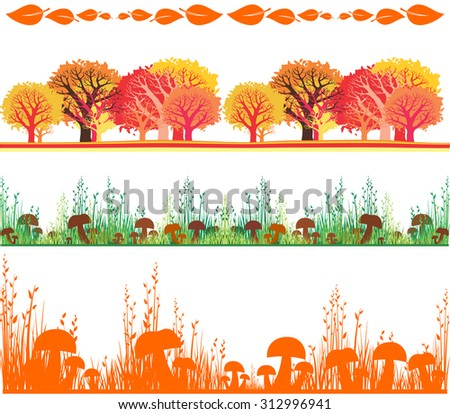autumn set collection of