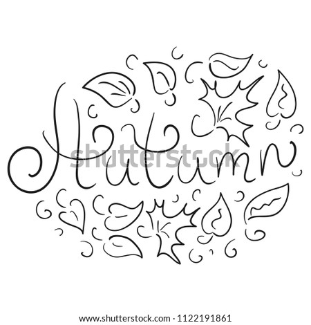 autumn sketch vector