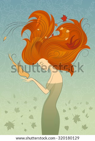 autumn style fantasy outline