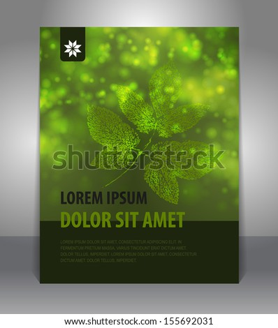 Autumn  stylish presentation of business poster. Flyer design content background. Design layout template