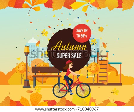 autumn super sale background