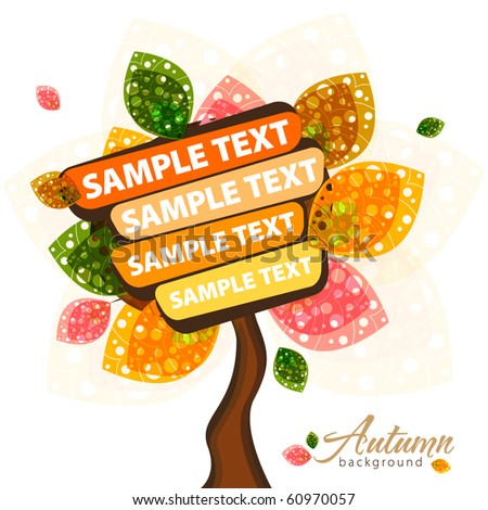 Autumn text banner - stock vector
