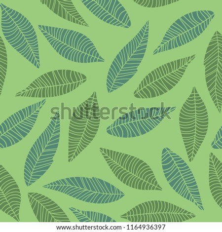 autumn theme seamless pattern design with leaf shape element