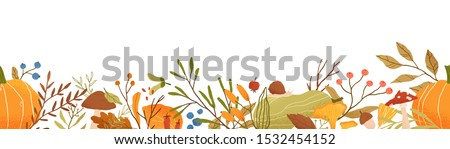 autumn themed horizontal vector