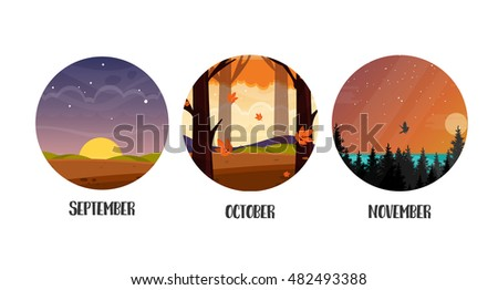 autumn three month icons