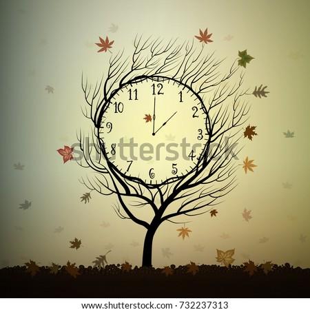 autumn time  tree looks like