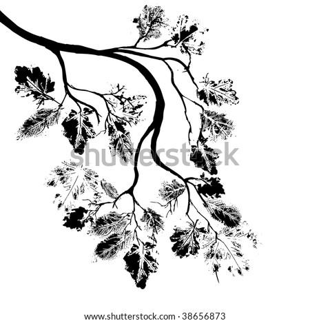 autumn tree design element