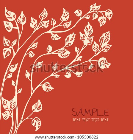 autumn tree invitation card