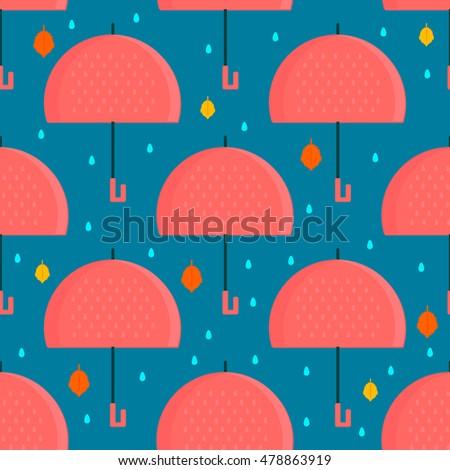 autumn umbrella seamless
